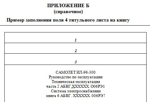 Пример заполнения графы 4 титульного листа