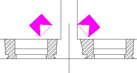 Изображение повёрнутого УГО (условного графического изображения) извещателя